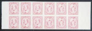 Sale Number 632, Lot Number 550, General Foreign1903, 2c Carmine Imperforate, Uncut Tete Beche Booklet Pane of  Twelve (90b variety), 1903, 2c Carmine Imperforate, Uncut Tete Beche Booklet Pane of  Twelve (90b variety)