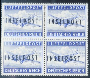 "Sale Number 632, Lot Number 563, General Foreign-----, 1944, Ultramarine, ""Inselpost"" Overprint, Perforated (Michel 8A), -----, 1944, Ultramarine, ""Inselpost"" Overprint, Perforated (Michel 8A)"