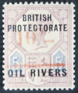 Sale Number 632, Lot Number 577, General ForeignNIGER COAST PROTECTORATE, 1893, 10sh on 5p Lilac &  Blue (33), NIGER COAST PROTECTORATE, 1893, 10sh on 5p Lilac &  Blue (33)