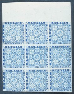 Sale Number 632, Lot Number 578, General ForeignNOVA SCOTIA, 1851, 3p Blue (2), NOVA SCOTIA, 1851, 3p Blue (2)