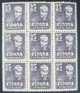 Sale Number 632, Lot Number 580, General ForeignSPAIN, 1950, 50c-25c Franco Visit (B137, B138, CB18), SPAIN, 1950, 50c-25c Franco Visit (B137, B138, CB18)