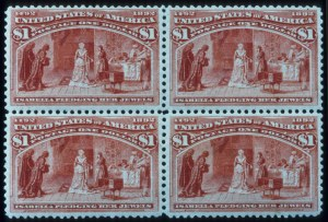 Sale Number 645, Lot Number 199, Columbian Issue$1.00 Columbian (241), $1.00 Columbian (241)