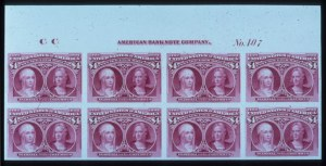 Sale Number 645, Lot Number 207, Columbian Issue$4.00 Columbian, Plate Proof on Card (244P4), $4.00 Columbian, Plate Proof on Card (244P4)