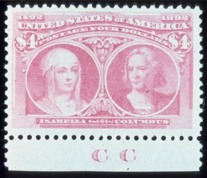 Sale Number 645, Lot Number 209, Columbian Issue$4.00 Columbian (244), $4.00 Columbian (244)