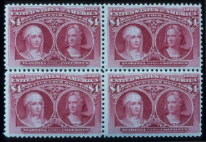 Sale Number 645, Lot Number 210, Columbian Issue$4.00 Columbian (244), $4.00 Columbian (244)