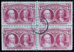 Sale Number 645, Lot Number 211, Columbian Issue$4.00 Columbian (244), $4.00 Columbian (244)