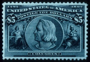 Sale Number 645, Lot Number 213, Columbian Issue$5.00 Columbian (245), $5.00 Columbian (245)