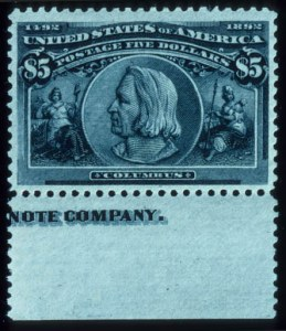 Sale Number 645, Lot Number 214, Columbian Issue$5.00 Columbian (245), $5.00 Columbian (245)