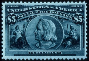 Sale Number 645, Lot Number 215, Columbian Issue$5.00 Columbian (245), $5.00 Columbian (245)