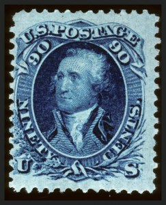 Sale Number 660, Lot Number 89, 1867-68 Grilled Issues90c Blue, F. Grill (101), 90c Blue, F. Grill (101)