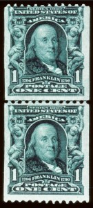 Sale Number 679, Lot Number 306, 1902-08 Issue1c Blue green, coil (316), 1c Blue green, coil (316)