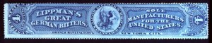 Sale Number 692, Lot Number 473, RevenuesLippman, J. & Bro., 4c Blue (RS163a), Lippman, J. & Bro., 4c Blue (RS163a)