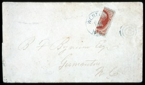 Sale Number 708, Lot Number 272, 1870-93 Bank Note Issues2c Vermilion, Vertical and Horizontal Bisects (178b), 2c Vermilion, Vertical and Horizontal Bisects (178b)