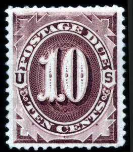 Sale Number 708, Lot Number 420, Special Delivery thru Officials10c Deep Brown, Special Printing (J12), 10c Deep Brown, Special Printing (J12)