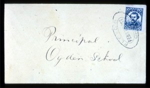 Sale Number 708, Lot Number 436, Carriers and LocalsFloyd's Penny Post, Chicago, Ill., (1c) Blue (68L1), Floyd's Penny Post, Chicago, Ill., (1c) Blue (68L1)