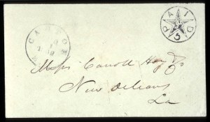 Sale Number 708, Lot Number 444, Confederate StatesCanton, Miss., 5c Black (14XU1), Canton, Miss., 5c Black (14XU1)
