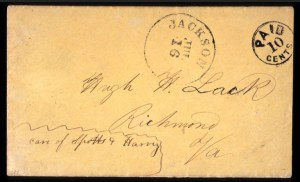 Sale Number 708, Lot Number 446, Confederate StatesJackson, Miss., 10c Black (43XU2), Jackson, Miss., 10c Black (43XU2)