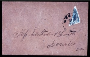 Sale Number 708, Lot Number 465, Confederate States20c Green, Diagonal Half used as 10c (13c), 20c Green, Diagonal Half used as 10c (13c)