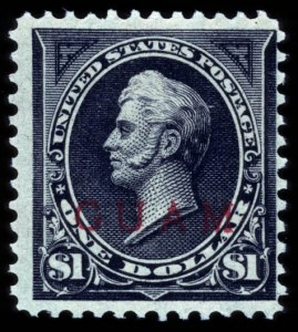 Sale Number 708, Lot Number 470, U.S. PossessionsGUAM, 1899, $1.00 Black, Ty. II, Overprint (13), GUAM, 1899, $1.00 Black, Ty. II, Overprint (13)