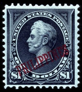 Sale Number 708, Lot Number 476, U.S. PossessionsPHILIPPINES, 1901, $1.00 Black, Ty. II, Overprint (223A), PHILIPPINES, 1901, $1.00 Black, Ty. II, Overprint (223A)