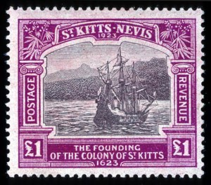 Sale Number 708, Lot Number 596, General ForeignST. KITTS-NEVIS, 1923, 1/2p-£1 Caravel (52-64), ST. KITTS-NEVIS, 1923, 1/2p-£1 Caravel (52-64)