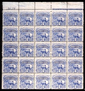 Sale Number 724, Lot Number 158, 1869 Pictorial Issue3c Ultramarine (114). Mint Top Imprint Plate & No, 3c Ultramarine (114). Mint Top Imprint Plate & No