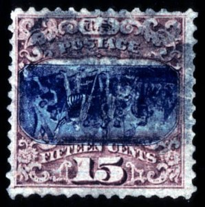 Sale Number 724, Lot Number 162, 1869 Pictorial Issue15c Brown & Blue, Ty, 15c Brown & Blue, Ty