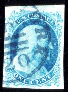 Sale Number 724, Lot Number 38, 1851-56 Issue1c Blue, Ty. Ib (5A), 1c Blue, Ty. Ib (5A)