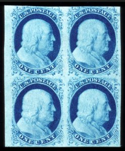 Sale Number 724, Lot Number 42, 1851-56 Issue1c Blue, Ty. II (7), 1c Blue, Ty. II (7)
