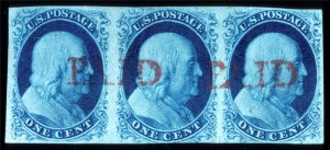 Sale Number 724, Lot Number 44, 1851-56 Issue1c Blue, Ty. II, IlIa (7, 8A), 1c Blue, Ty. II, IlIa (7, 8A)