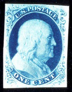Sale Number 724, Lot Number 45, 1851-56 Issue1c Blue, Ty. III (8), 1c Blue, Ty. III (8)