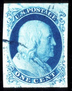 Sale Number 724, Lot Number 47, 1851-56 Issue1c Blue, Ty. IlIa (8A), 1c Blue, Ty. IlIa (8A)
