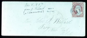 Sale Number 724, Lot Number 53, 1851-56 Issue3c Dull Red (11), 3c Dull Red (11)