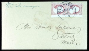 Sale Number 724, Lot Number 54, 1851-56 Issue3c Dull Red (11), 3c Dull Red (11)