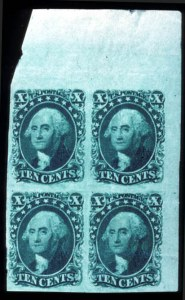 Sale Number 724, Lot Number 62, 1851-56 Issue10c Green, Type II (14), 10c Green, Type II (14)