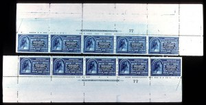 Sale Number 737, Lot Number 710, Special Delivery thru Newspapers10c Blue (E4). Top & Bottom Imprint & Plate No, 10c Blue (E4). Top & Bottom Imprint & Plate No