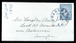 Sale Number 737, Lot Number 757, Confederate StatesCharleston, S.C., 5c Blue (16X1), Charleston, S.C., 5c Blue (16X1)