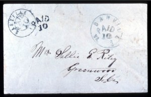 Sale Number 737, Lot Number 758, Confederate StatesDanville, Va., 10c Black (21XU4, 21XU6), Danville, Va., 10c Black (21XU4, 21XU6)