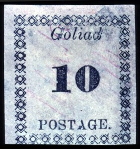 Sale Number 737, Lot Number 761, Confederate StatesGoliard, Texas, 10c Black on Rose (29X5), Goliard, Texas, 10c Black on Rose (29X5)