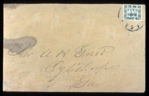 Sale Number 737, Lot Number 767, Confederate StatesMacon, Ga., 5c Black on Yellow (53X3), Macon, Ga., 5c Black on Yellow (53X3)