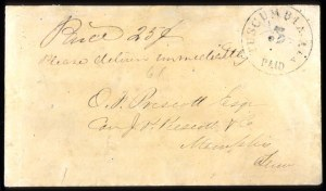 Sale Number 737, Lot Number 774, Confederate StatesThscumbia Ala., 5c Black (84XU1), Thscumbia Ala., 5c Black (84XU1)
