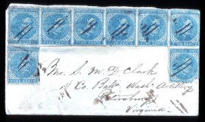 Sale Number 737, Lot Number 784, Confederate States5c Blue (7), 5c Blue (7)
