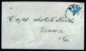 Sale Number 737, Lot Number 794, Confederate States20c Green, Diagonal Half Used as 10c (13c), 20c Green, Diagonal Half Used as 10c (13c)