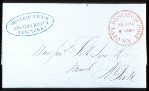 Sale Number 745, Lot Number 209, City Despatch PostCity Despatch Post, N.Y., Apr, City Despatch Post, N.Y., Apr