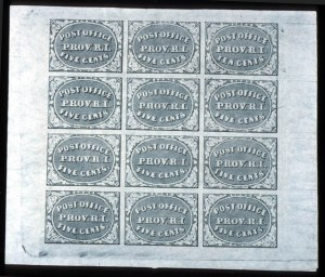 Sale Number 745, Lot Number 285, Postmasters ProvisionalsProvidence, R.I., 5c, 10c Gray Black (10X1, 10X2), Providence, R.I., 5c, 10c Gray Black (10X1, 10X2)