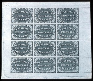 Sale Number 745, Lot Number 286, Postmasters ProvisionalsProvidence, R.I., 5c, 10c Gray Black (10X1, 10X2), Providence, R.I., 5c, 10c Gray Black (10X1, 10X2)
