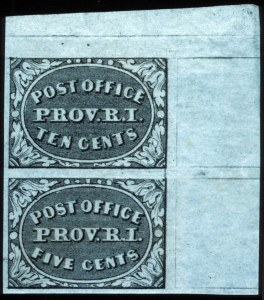 Sale Number 745, Lot Number 287, Postmasters ProvisionalsProvidence, R.I., 5c, 10c Gray Black (10X1, 10X2), Providence, R.I., 5c, 10c Gray Black (10X1, 10X2)