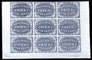 Sale Number 745, Lot Number 288, Postmasters ProvisionalsProvidence, R.I., 5c Gray Black (10X1), Providence, R.I., 5c Gray Black (10X1)
