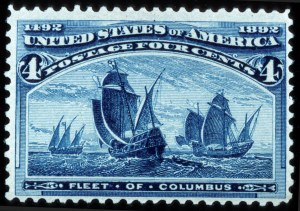 Sale Number 745, Lot Number 656, Columbian Issue4c Columbian, Blue Error of Color (233a), 4c Columbian, Blue Error of Color (233a)
