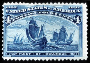 Sale Number 745, Lot Number 657, Columbian Issue4c Columbian, Blue Error of Color (233a), 4c Columbian, Blue Error of Color (233a)